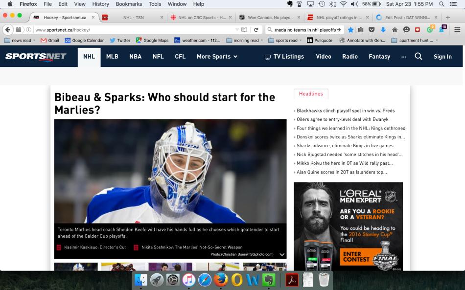 Sportsnet screenshot
